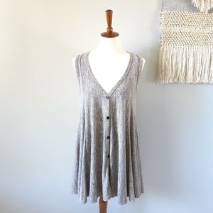 Comfy USA | Sleeveless Button Front Cardigan Vest